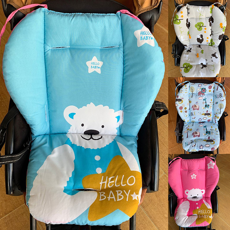 5 Colors Universal Baby Carriage Seat Covers Soft Thick Cartoon Flowers Baby Carriage Car Seat Cushion Cover Pad Seat Mat
