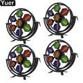 4 шт./лот RGBW 4в1 7x60 Вт Светодиодная полноцветная Ретро вспышка стробоскопическая вспышка для сцены диско-оборудование для диско-дискотеки ос...