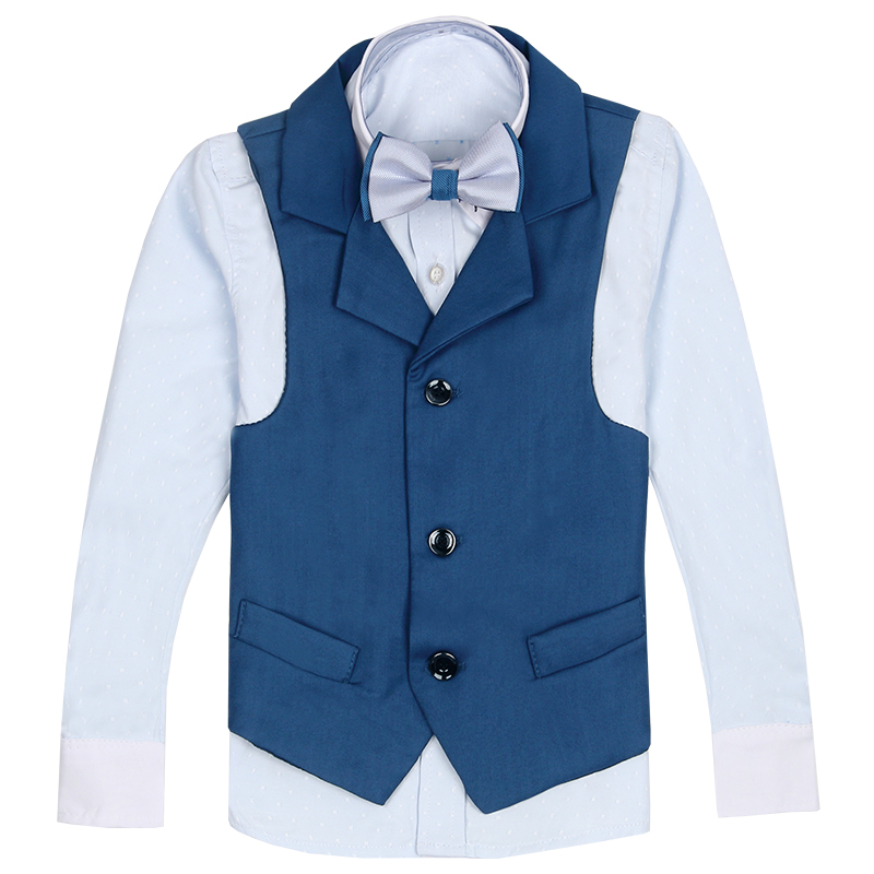 2017 autumn children suit boys vest sets kids england style blazer boys formal suit for wedding prom waist coat with pants kids spring formal clothes set children boys three piece suit cool pant vest coat performance wear western style