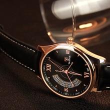 Negro de Lujo de Los Hombres Relojes Famoso Reloj de Cuarzo de Los Hombres relojes de Pulsera Reloj Masculino Reloj de Cuarzo reloj LL