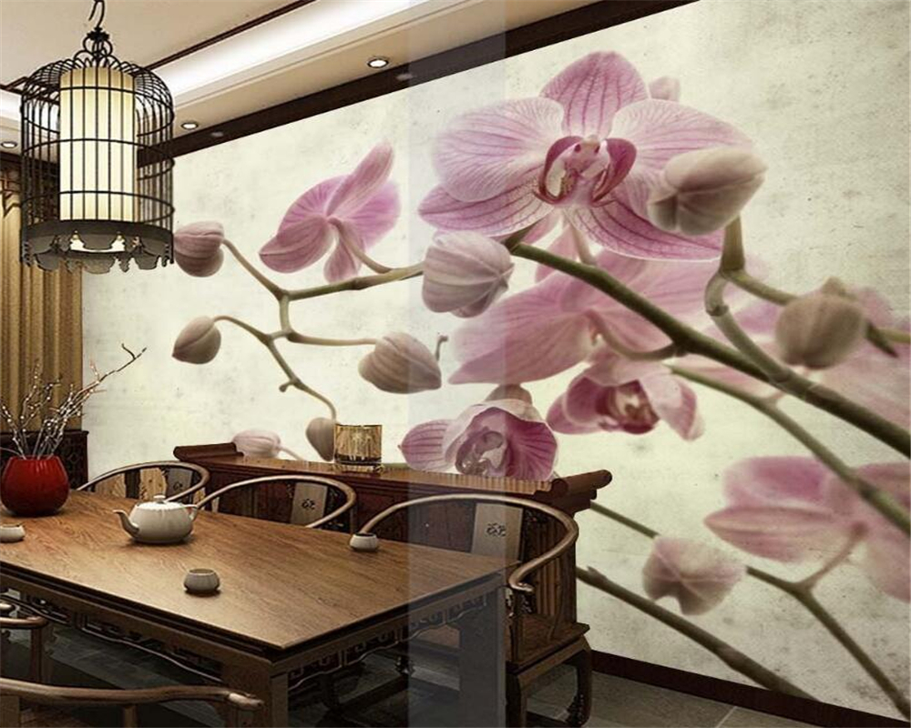 Beibehang 3D Wallpaper Modern Simple 3D Handmade Moth Orchid Background Living Room Bedroom TV Mural wallpaper for walls 3 d modern simple romantic snow large mural wallpaper for living room bedroom wallpaper painting tv backdrop 3d wallpaper