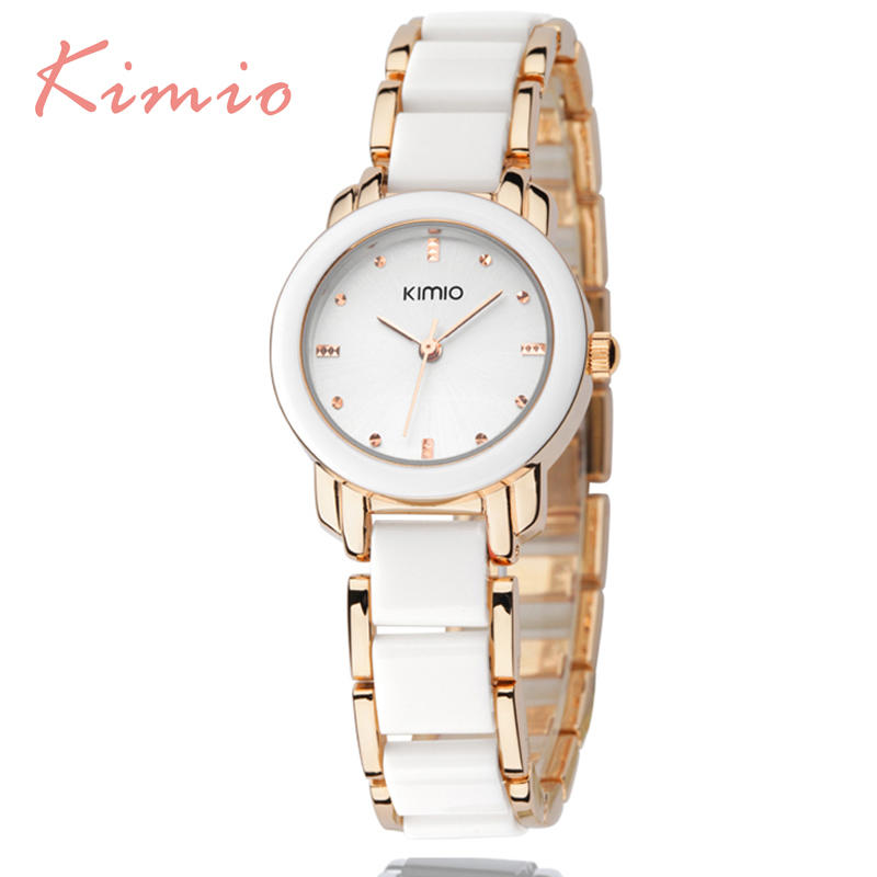 Kimio de luxe De Mode de Femmes montres à quartz montre bracelet montres en acier inoxydable bracelet femmes montres avec Boîte-Cadeau