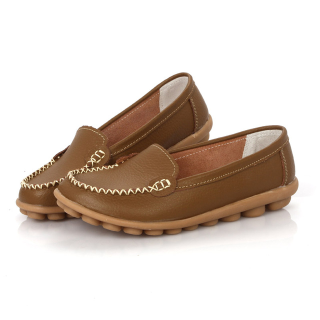 Koovan Women Flats 2017 New Leather Mother White Nurse Shoe Peas Work Flat Shoes Comfortable Women Shoes Loafers Slip Home