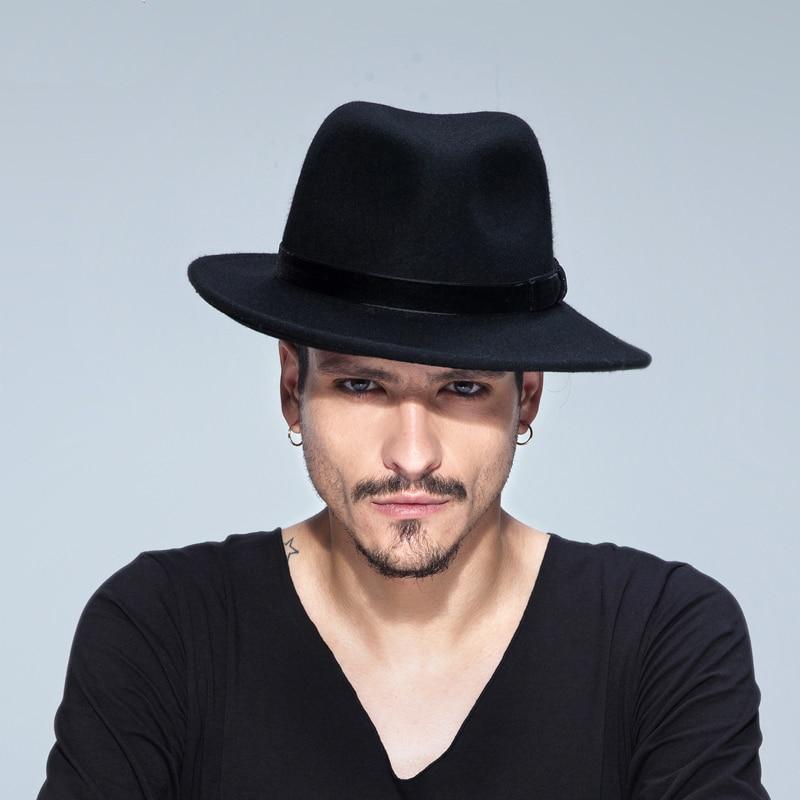 New 100% Hemp Wool Women's Men's Wide Brim Fedora Hat For Laday Cashmere Jazz Church Cap Gentleman Panama Sombrero Top Hat 20