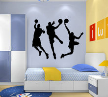 Free shiping Basketball wall sticker can remove the sitting room the bedroom setting wall stickers max reger the responsories musical setting