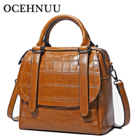 AOLIDA 2017 Vintage Women Messenger Bags Genuine Leather Handbags Female Luxury Brand Real Leather Handbags Crossbody