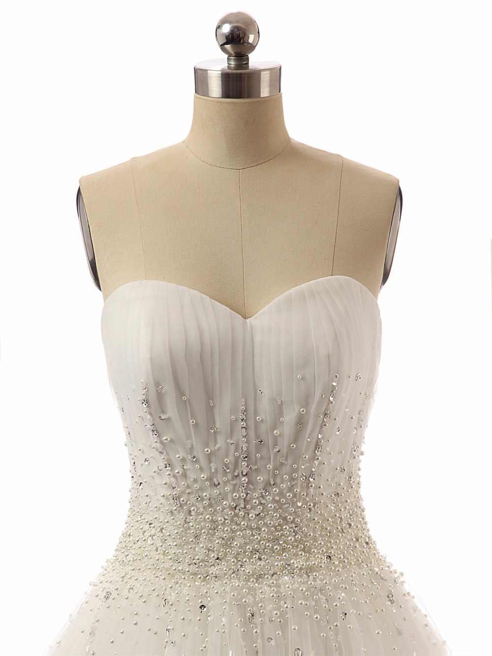 Романтические свадебные платья русалки 2017 года с v-образным вырезом без рукавов для невесты красивые вечерние платья со съемным шлейфом Vestidos De Novia