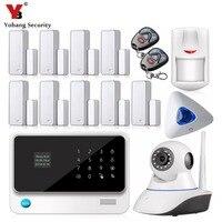 YobangSecurity ويفي نظام إنذار تطبيق لنظام أندرويد وIOS داخلي صفارات الإنذار القوية لاسلكية السلكية غسم الرئيسية أنظمة إنذار الأمن مع الكاميرا-في مجموعات نظام إنذار من الأمن والحماية على
