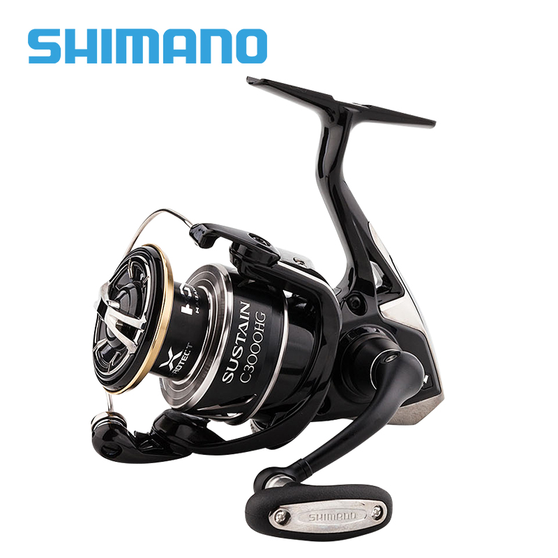 SHIMANO SUSTAIN 2500 2500HG 3000XG <font><b>c3000HG</b></font> 40004000XG C5000XG Spinning Fishing Reel 8+1BB 6.0:1/6.2:1 X-Ship ROTOR SPINNING REEL image