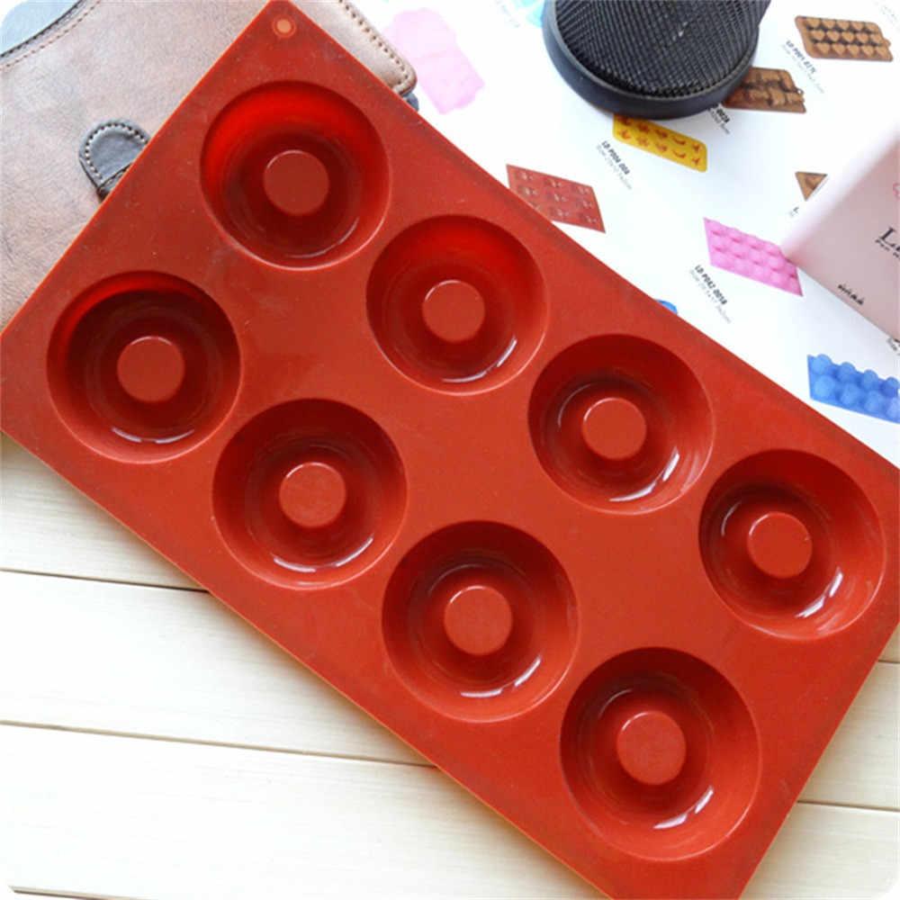 8 решетчатых пончиков, силиконовая форма для торта, кухонная форма для выпечки, инструмент для торта, кухонная утварь, инструменты, режим Tortas Y1