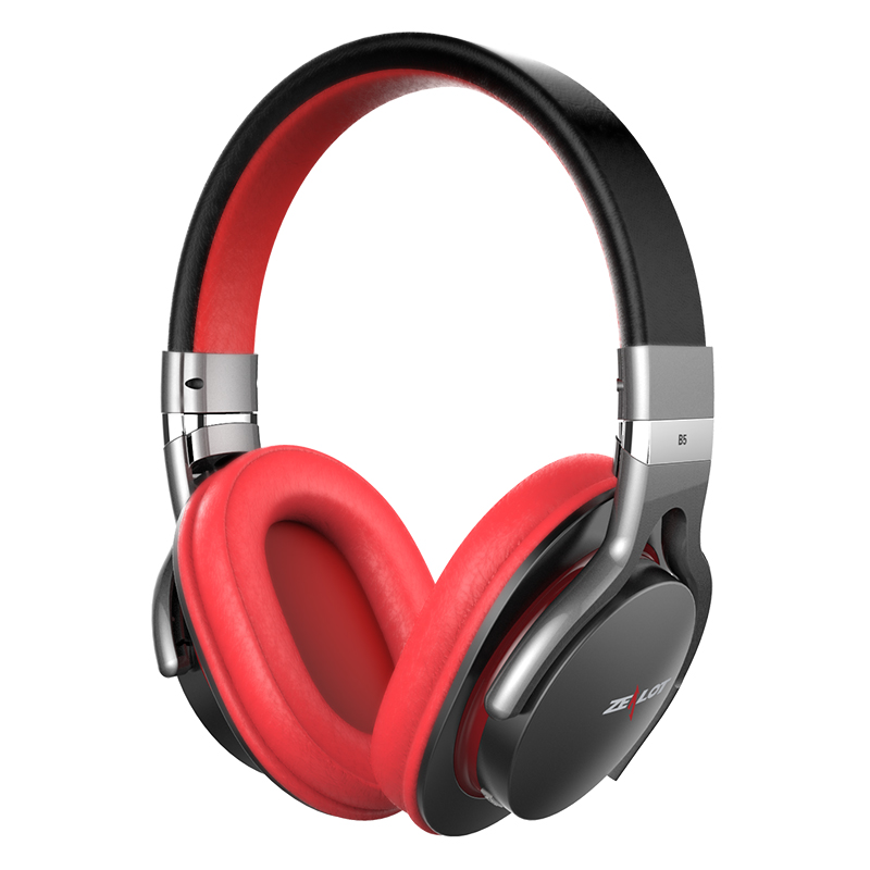 High quality Zealot B5 wireless Headset  bluetooth stereo Music Noise Cancelling Headphones with microphone for Moblie Phone цена
