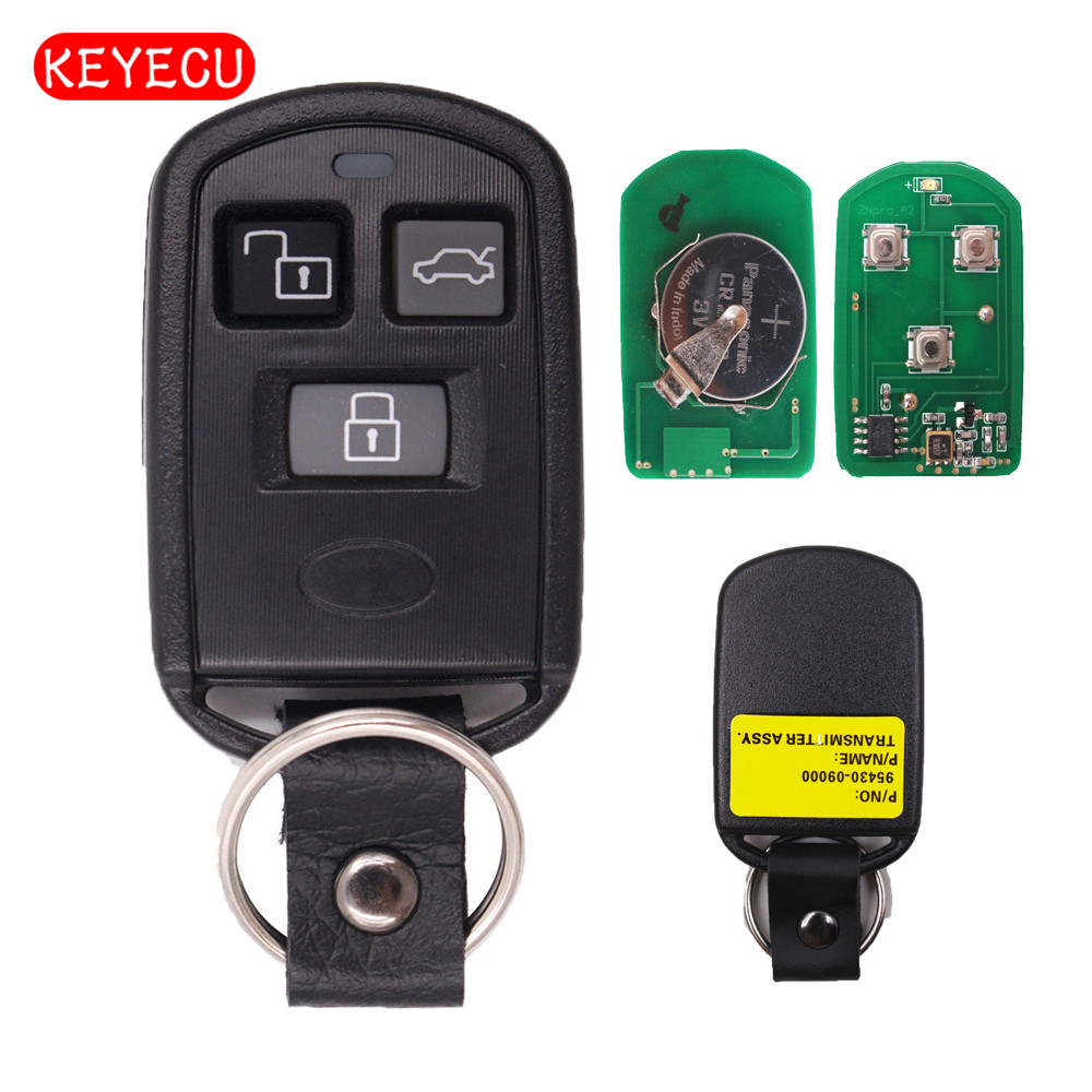 Keyecu Ersatz Remote Key 3 Taste Fob 311 mhz für Hyundai Sonata 2002-2005 FCC ID: PINHACOEF311T 95430-3D201