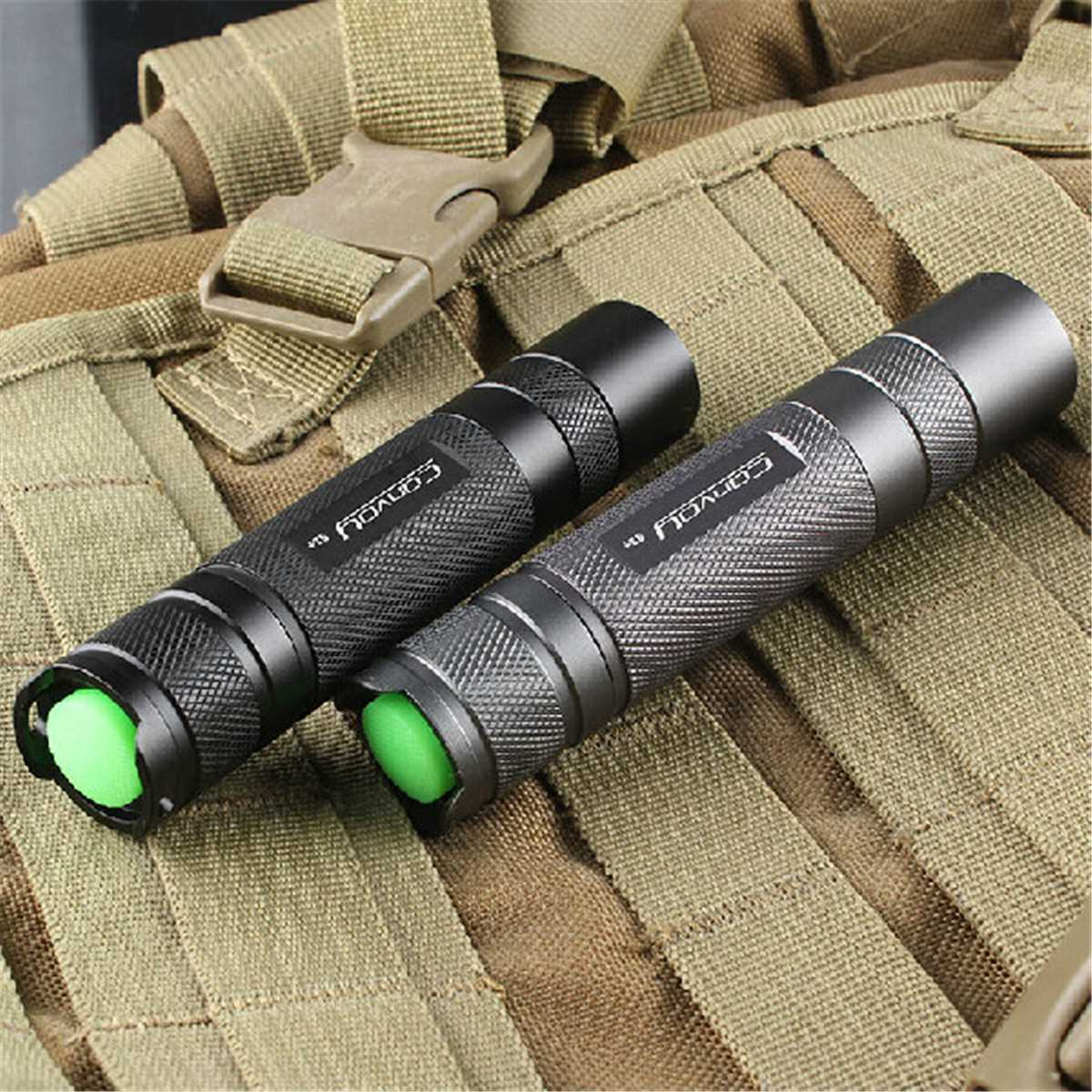 Convoy S2+Aluminum alloy Grey XM-L2 7135x8 3/5Modes EDC LED Flashlight Torch by 18650 battery For Camping Hiking фонарик convoy s5 xml2 u2 1a 7135 3 3 5