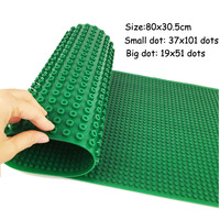Double Sided Large Baseplate for Big dot and Small dot Silicone Base Plate Building Block Classic Brick Compatible Major Brand
