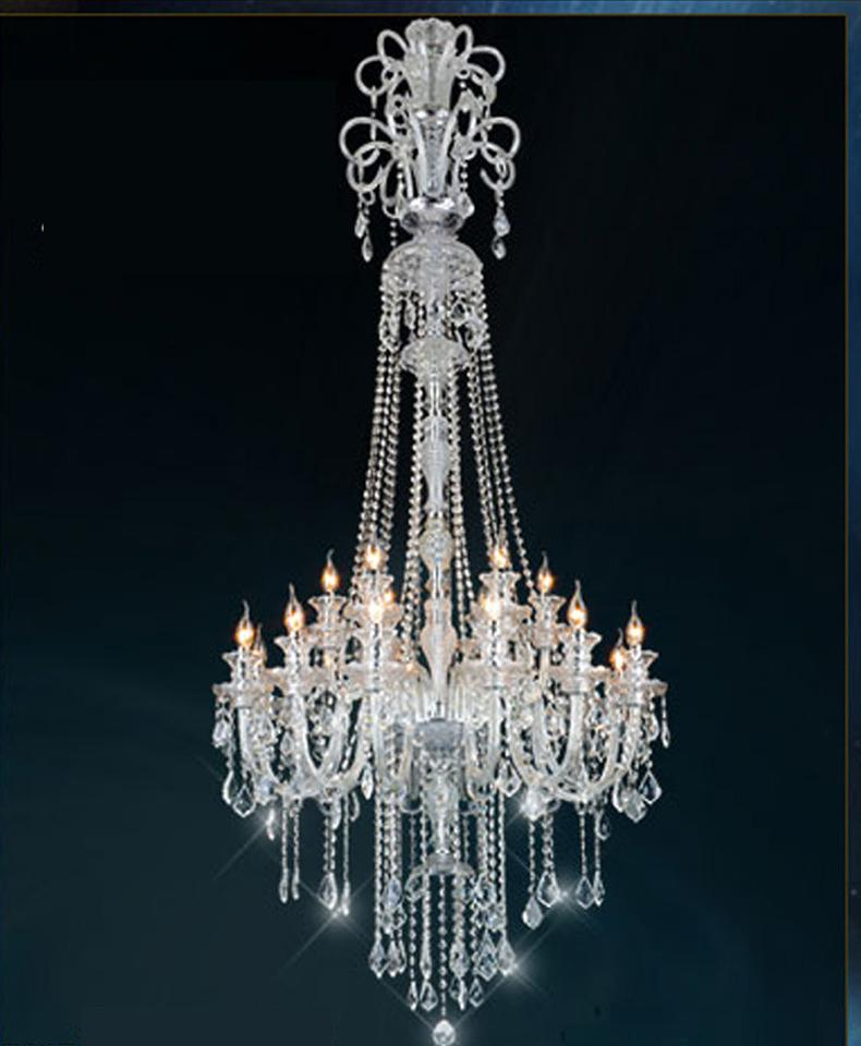 H210CM Long Crystal Chandelier For Hotel Lobby Stair