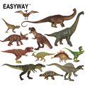 Easyway vida Real Mini animales dinosaurios figura de acción conjunto de modelos Jurásico Dinosaurus juguetes para niños t-rex niños regalo DIY