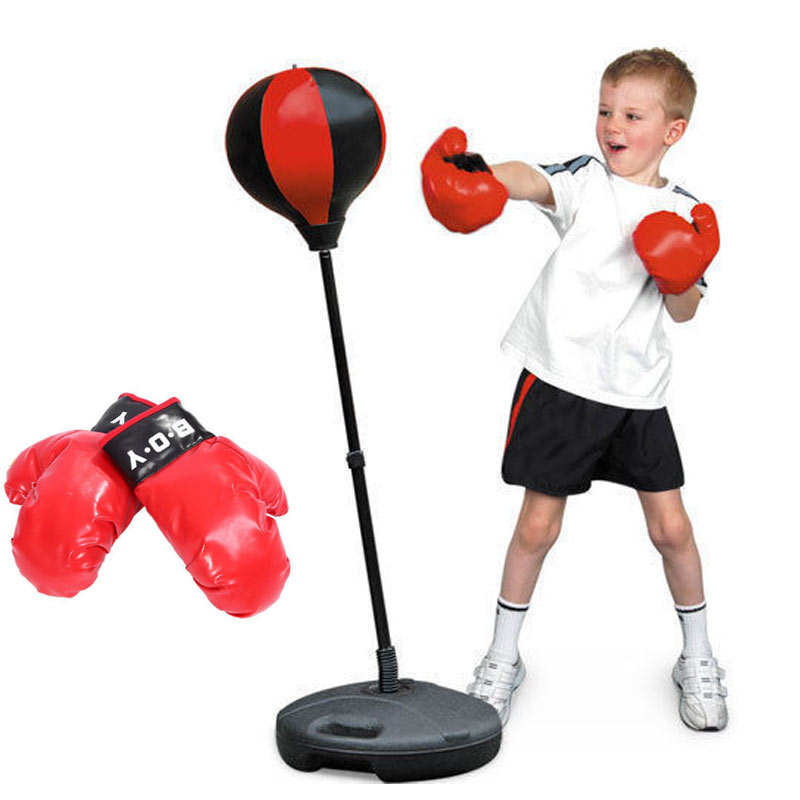 1 set Accueil Détente De Bureau Punching Ball Boxe Balle Jouet Pratique La Réduction Du Stress Émotion Balle Relief Nouveauté Jouets Exercice