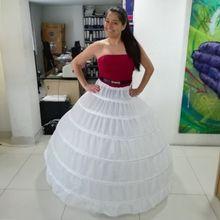 ขอบลูกไม้ 6 Hoop Petticoat Underskirt สำหรับชุดบอลชุดแต่งงานชุด 110 ซม.เส้นผ่าศูนย์กลางชุดชั้นใน Crinoline อุปกรณ์จัดงานแต่งงาน