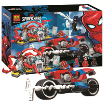 11186 Marvel Spider-man Bike Rescue Building Blocks Toys Bricks Gift Super Hero 76113