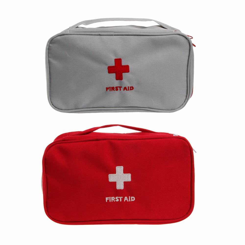 Free Shipping Portable First Aid Survival Medicine Storage Bag Pill Box For Travel Home Medical Tools #Y207E# Hot Sale