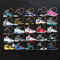 25Pcs/lot Action Figure Toys Mini Jordan 4 Pendant For Men Woman Silicone Sneaker Keychain Pendant Gifts For Adults  AJ 4