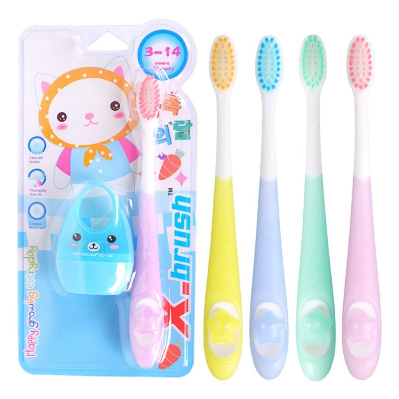 1/3/4/5PCS/Set Soft Baby Toothbrush Cute Cartoon Dinosaur Children Toothbrush Baby Kids Dental Oral Hygiene Care image