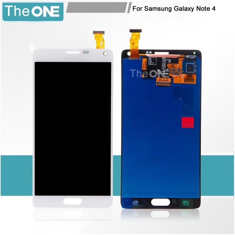 LCD For Samsung Galaxy Note4 N910C N910F SM-N910 N910X Screen Digitizer with Frame Assembly White Grey Black
