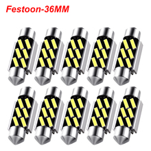 цена на Festoon 36mm LED Bulbs C5W C10W CANBUS 7020 SMD NO ERROR White Light Lamp For Car Auto Dome Interior License Plate Lights DC 12V