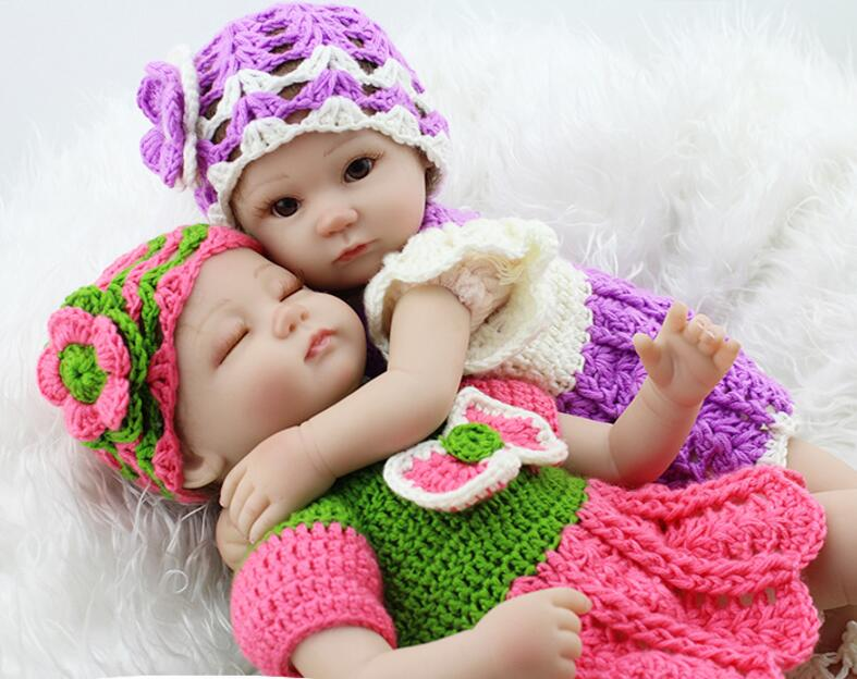 NPKDOLL kawaii twins 18 inch silicone reborn babies dolls for girls toys for kids 45 CM handmade complete doll toy free shipping 18 inch dolls handmade bjd doll reborn babies toys for children 45cm jointed plastic toy dolls for girls birthday gifts juguetes