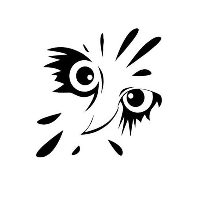 15x145 Cm Búho Cara Dibujos Animados Vinilo Interesante Pegatina