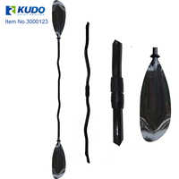 Lighweight Portable Sea Sport line Carbon Fiber Kayak Paddle with Bent Shaft for Peoseffional Race Competition Surfing in Sea