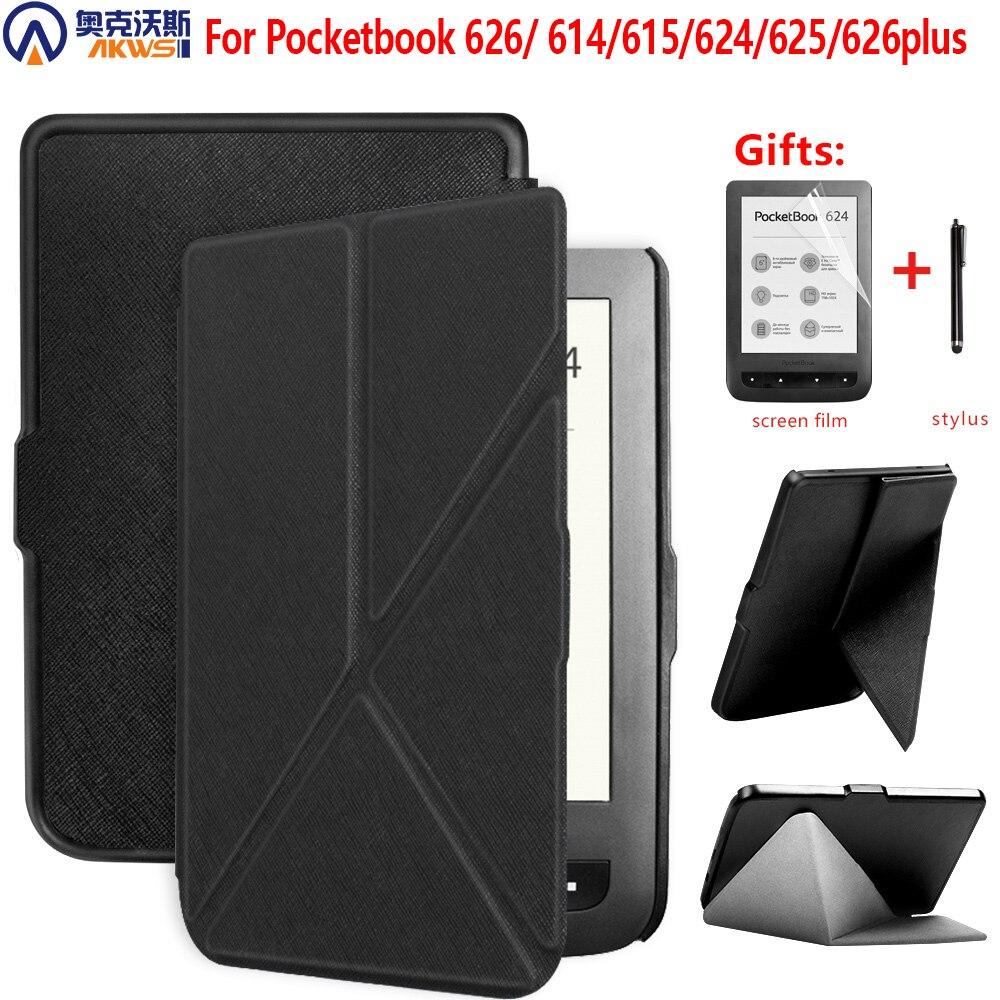 Женский чехол для Pocketbook 626 614 Plus 615 624 625, защитный чехол для Pocketbook Touch Lux 3, рубиново-красный, 6 дюймов