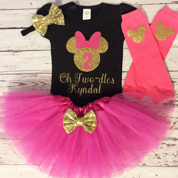 custom fushia and Black mouse birthday bodysuit onepiece Tutu legwarmers  toodles Outfit Set baby shower party favors 5c5340d95456