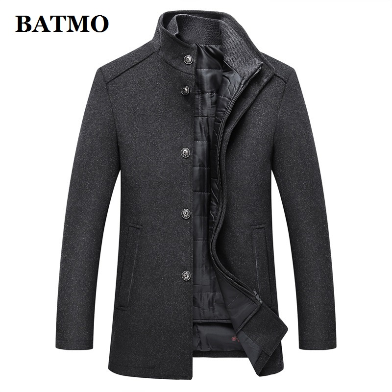 BATMO 2019 New Arrival Winter Thicked Wool Casual Trench Coat Men,men's Winter Warm  Jackets ,plus-size M-XXXL