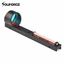 Red Fibre Red Dot Sight Scope Holografisch zicht Fit Shotgun Rib Rail Jacht Schieten