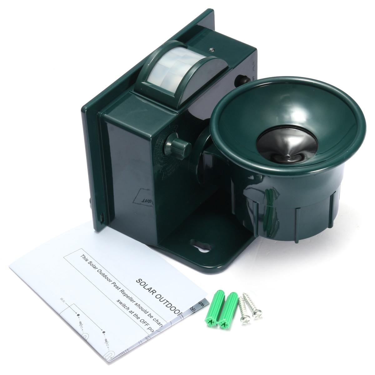 Image 5 - Solar Powered Ultrasonic Bird Repeller PIR Motion Sensor Animal Repellent Bird Pest for Home and Garden Protection-in Repellents from Home & Garden
