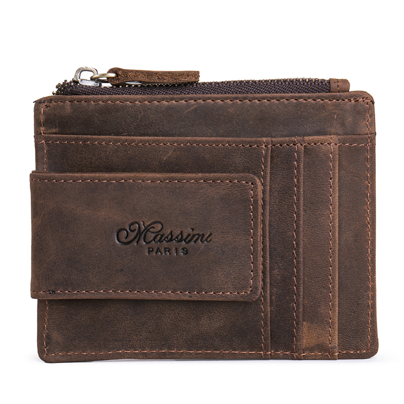 Teemzone Women Men Zipper Wallet Pengar Clip Magnetisk Clip Ultrathin - Plånböcker - Foto 3