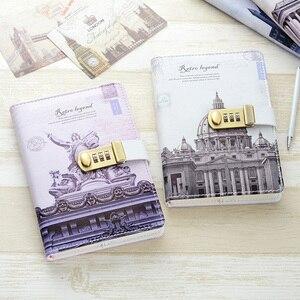 Image 2 - Nowy osobisty pamiętnik notatnik z kodem blokady biznes A5 gruby notatnik codzienne notatki biuro szkolne prezent