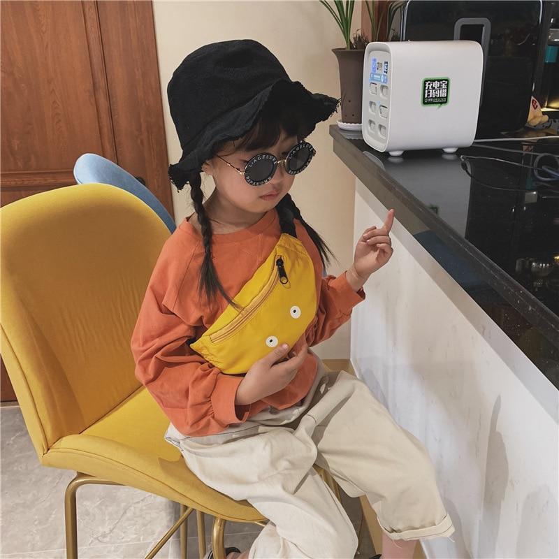 New Children Printing Waist Bag Girls Shoulder Belt Bags Baby Waist Packs Cartoon Phone Money Pouch Kids Hand Bags Purse