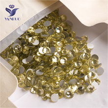 YANRUO 2058NoHF SS16 Jonquil 1440Pcs Strass Flat Back Crystal Stone DIY Non Hotfix Rhinestones For Nail Art Decorations