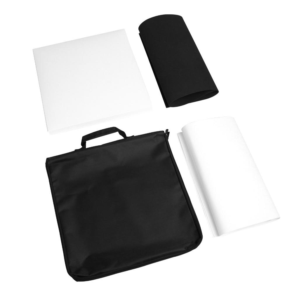 Meking 40*40cm Portable Folding Studio Diffuse Soft Box With LED Light Black White Photography Background Photo Studio box