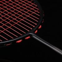 Spike type 4U badminton racket genuine carbon fiber 32 pounds offense professional grade violent male