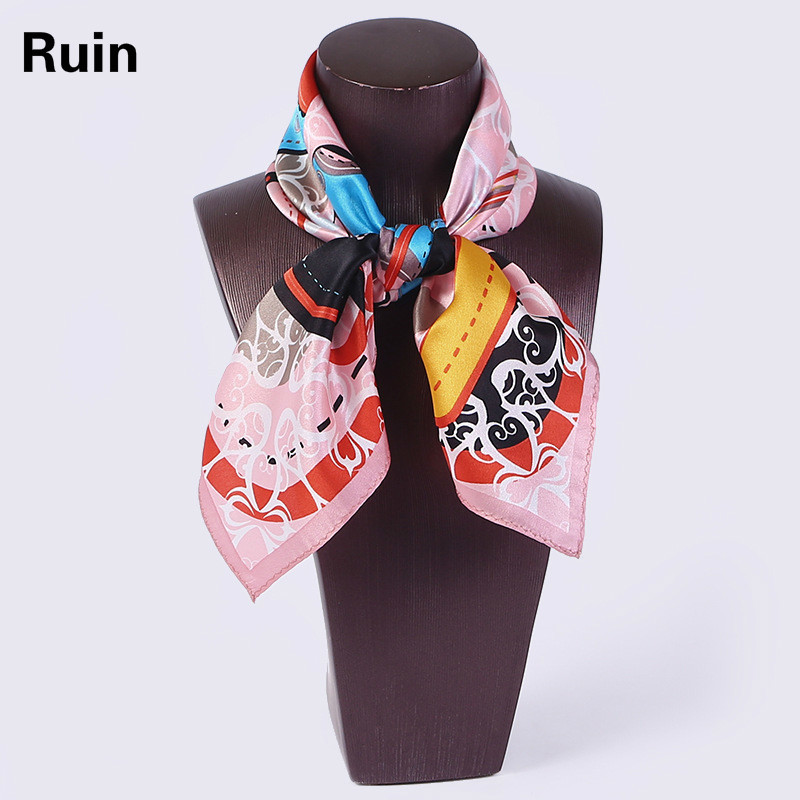 Silk Scarf 100% Silk Satin Small Square Upscale Hangzhou Silk Spring And Autumn Winter Career Flight Attendants Wild New Scarves