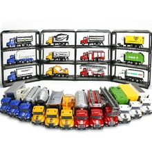 1:64 Mini Toys Cars Model Alloy Plastic Diecasts Engineering Car Model Display Stand Gift For Kids (L:W:H)17:4:8Cm