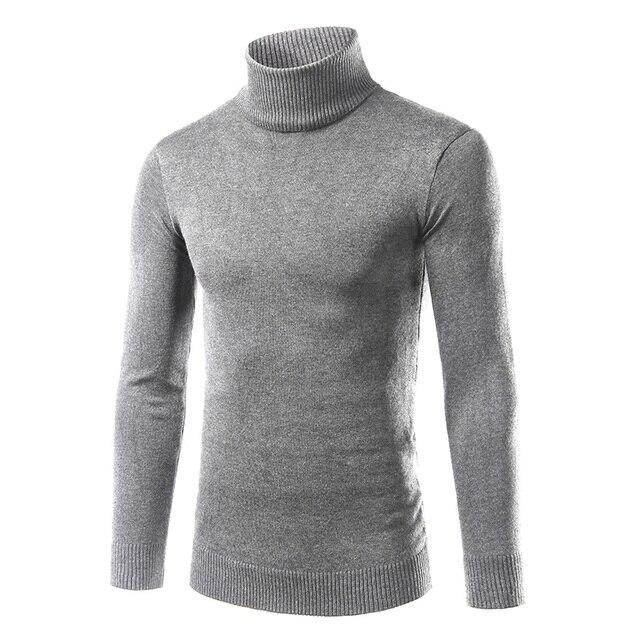 2016 Горячие продажа новые осень зима моды Корейской мужской свитер мужчин культивирования с высоким воротником свитера хеджирования сплошной цвет рубашка прилив