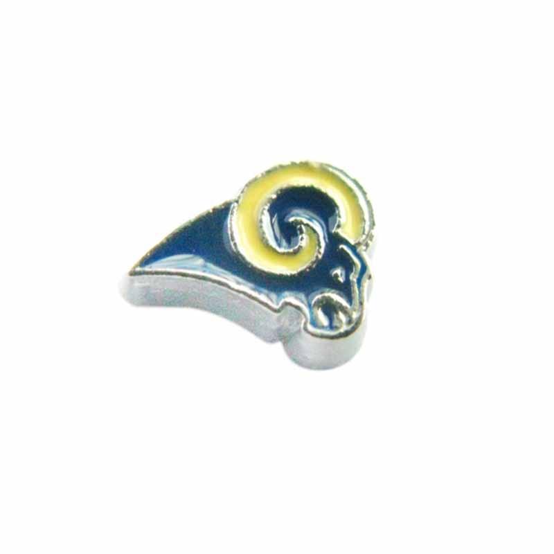 20 Pcs Enamel St. Louis Rams Charms American Football Team Locket Charms For Glass Living Memory Locket