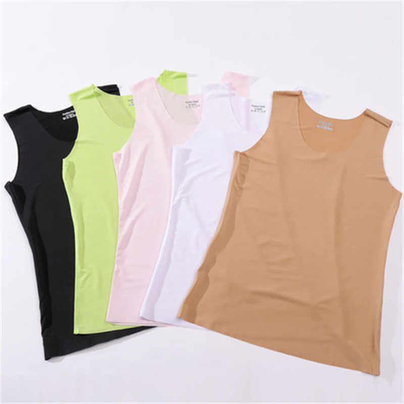 Seamless vest ladies strap summer thin section ride ladies bottoming shirt outer sleeveless ice silk vest women vest