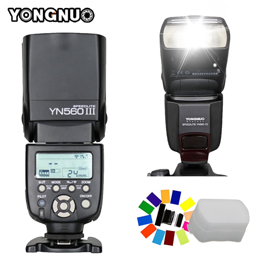 Yongnuo YN560III Universal Flash Speedlite YN-560III YN560 III Wireless Flashlight for Canon Nikon Pentax Olympus Sony Cameras 2 pcs yongnuo yn560 iii yn560iii flash speedlite flashlight for canon nikon