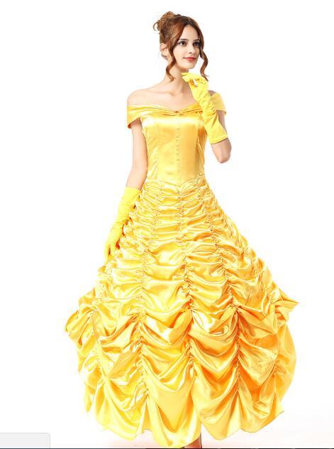 Szépség és a vadállat divatos ruha Cosplay jelmez hercegnő belle - Jelmezek