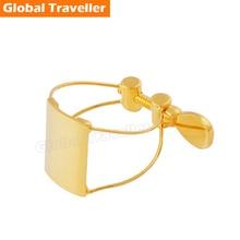 1 pcs gold-plated plastic/Bakelite Sax Mouthpiece Ligature Clip Saxophone Mouthpiece Ligature for Alto/ Tenor/Soprano Saxophone